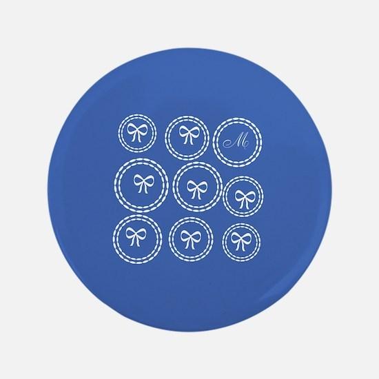 Cute Bows Blue Button