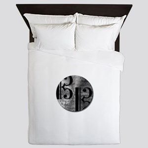 AltoClefsilverround Queen Duvet