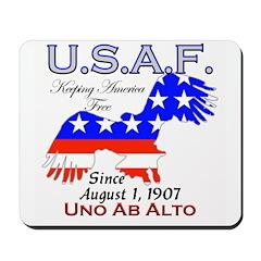 USAF Keeping America Free Mousepad