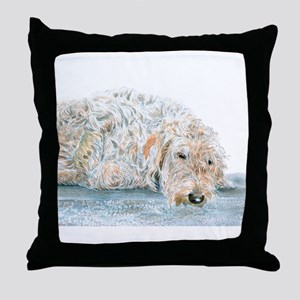 Sleepy Labradoodle Throw Pillow