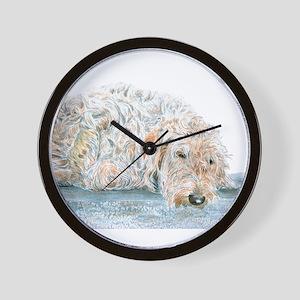 Sleepy Labradoodle Wall Clock