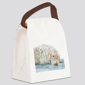 Sleepy Labradoodle Canvas Lunch Bag