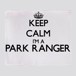 Keep calm I'm a Park Ranger Throw Blanket