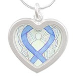 Periwinkle Ribbon Angel Necklaces