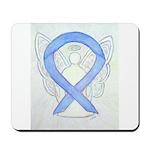 Periwinkle Ribbon Angel Mousepad