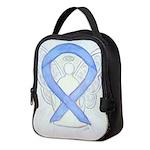 Periwinkle Ribbon Angel Neoprene Lunch Bag
