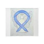 Periwinkle Ribbon Angel Throw Blanket