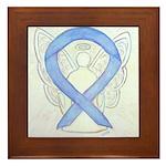 Periwinkle Ribbon Angel Framed Tile