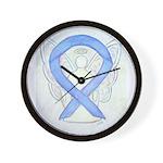 Periwinkle Ribbon Angel Wall Clock