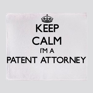 Keep calm I'm a Patent Attorney Throw Blanket