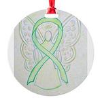 Lime Ribbon Angel Ornament