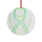 Lime Ribbon Angel Ornament (Round)