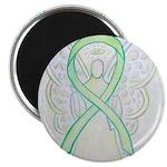 Lime Ribbon Angel Magnets