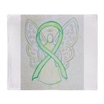Lime Ribbon Angel Throw Blanket