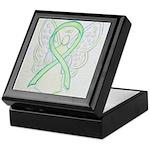 Lime Ribbon Angel Keepsake Box