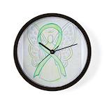 Lime Ribbon Angel Wall Clock