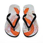 Orange Cat Ribbon Angel Flip Flops