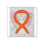Orange Cat Ribbon Angel Sticker