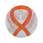 Orange Cat Ribbon Angel 3.5