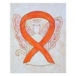 Orange Cat Ribbon Angel Posters