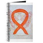 Orange Cat Ribbon Angel Journal