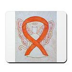 Orange Cat Ribbon Angel Mousepad