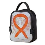 Orange Cat Ribbon Angel Neoprene Lunch Bag