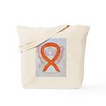 Orange Cat Ribbon Angel Tote Bag