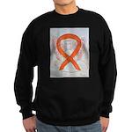 Orange Cat Ribbon Angel Sweatshirt