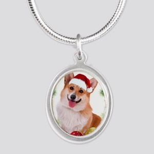 Smiling Corgi with Santa Hat Necklaces