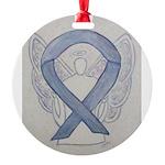 Silver Ribbon Angel Ornament