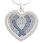 Silver Ribbon Angel Necklaces