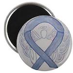 Silver Ribbon Angel Magnets