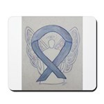 Silver Ribbon Angel Mousepad