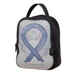 Silver Ribbon Angel Neoprene Lunch Bag