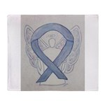 Silver Ribbon Angel Throw Blanket