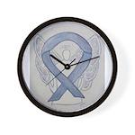 Silver Ribbon Angel Wall Clock