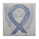 Silver Ribbon Angel Tile Coaster