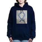 Silver Ribbon Angel Women's Hooded Sweatshirt