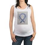 Silver Ribbon Angel Maternity Tank Top