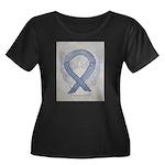 Silver Ribbon Angel Plus Size T-Shirt