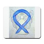 Violet Ribbon Angel Mousepad