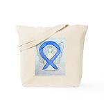 Violet Ribbon Angel Tote Bag