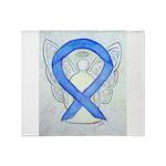 Violet Ribbon Angel Throw Blanket