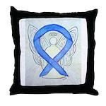 Violet Ribbon Angel Throw Pillow