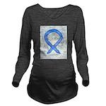 Violet Ribbon Angel Long Sleeve Maternity T-Shirt