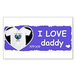 I LOVE DADDY Rectangle Sticker