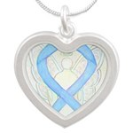Light Blue Ribbon Angel Necklaces