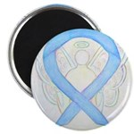 Light Blue Ribbon Angel Magnets