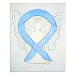 Light Blue Ribbon Angel Posters